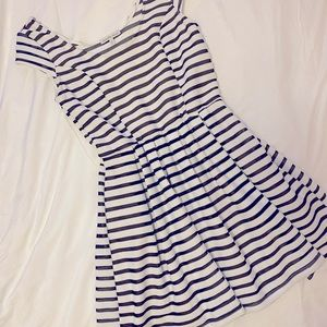 Charlotte Russe black and white striped dress